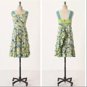 Anthropologie Girls Of Savoy Floral Dress